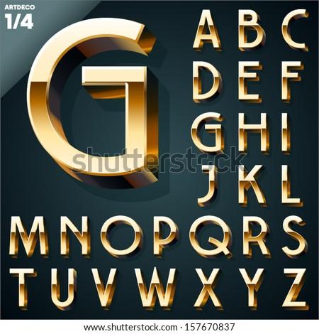 Gold 3d Alphabet Letters Free Vector Art - (234 Free Downloads)