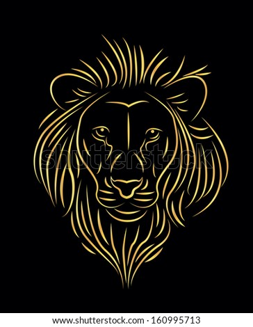 Gold Lion Head Knocker Door Logo #401504134 - Larastock