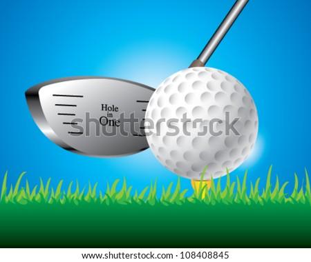Vector illustration of golf ball