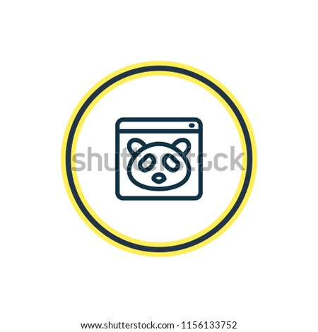 Vector illustration of google panda icon line. Beautiful advertising element also can be used as webpage icon element.