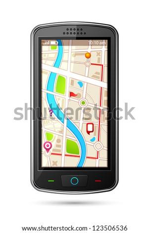 vector illustration of GPS navigation device