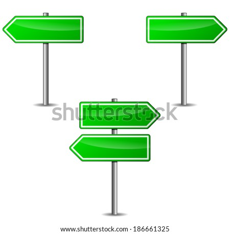 Vector illustration of green arrows sign on white background #186661325