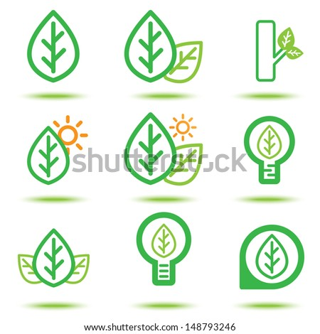 Vector illustration of green icon