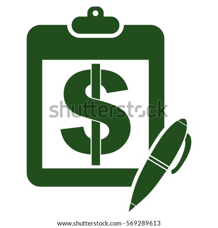 Vector Illustration of Green Pad With Pen Icon