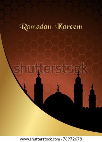 vector illustration of greeting card for ramadan mubarak
