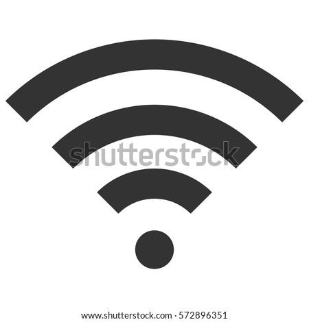 Vector Illustration of Grey Wifi Icon