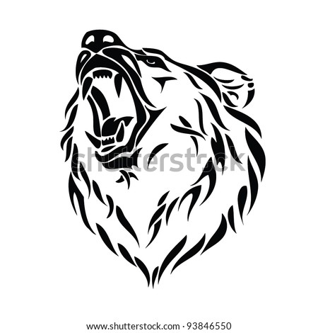 vector illustration of grizzly