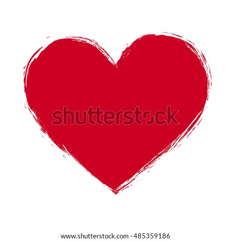 vector illustration of grunge red heart