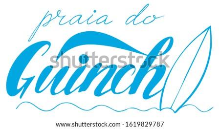 vector illustration of guincho