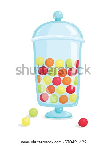 vector illustration of gumballs