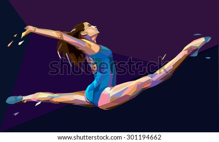 vector illustration of gymnast