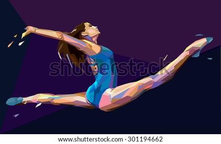 vector illustration of gymnast