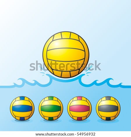 "Vector illustration of H2Opolo balls. ""Full compatible. Created with gradients. Named in layers"""
