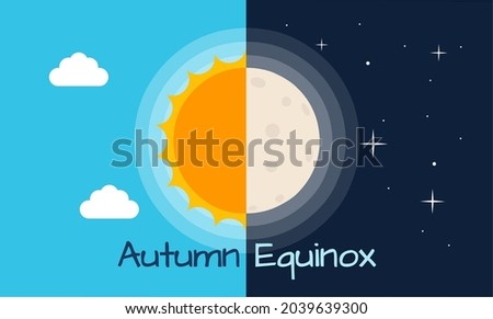 vector illustration of half sun