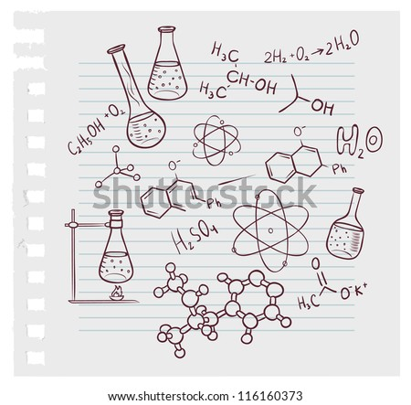 Vector chemistry download free vector art stock graphics images vector illustration of hand draw chemistry on background ccuart Images