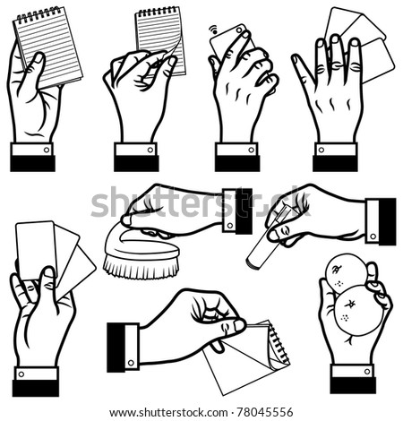 vector illustration of hands.