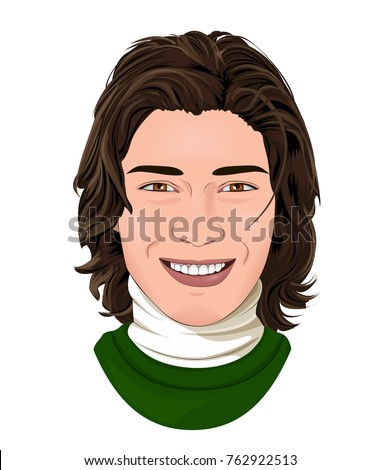 vector illustration of handsome