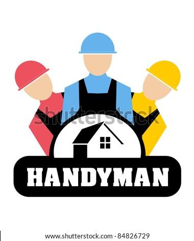 Vector illustration of Handyman concept