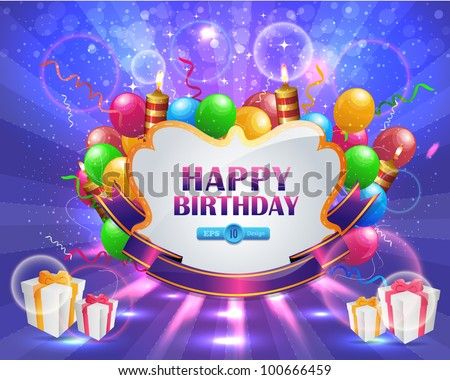 stock vector : Vector Illustration of Happy Birthday Ca