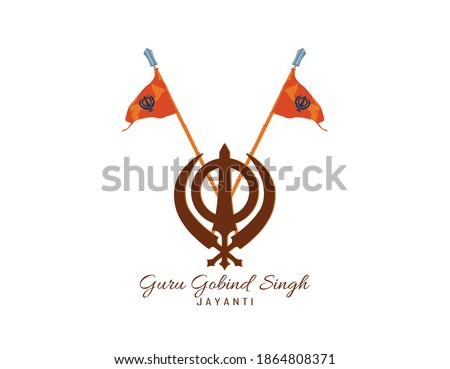 Vector Illustration of Happy Guru Gobind Singh Jayanti festival for Sikh celebration