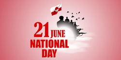 VECTOR ILLUSTRATION OF HAPPY NATIONAL DAY GREENLAND