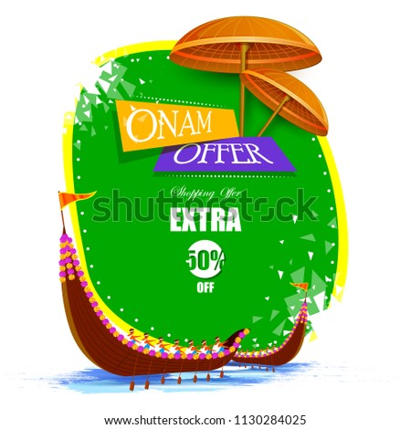 vector illustration of Happy Onam Big Shopping Sale Advertisement background for Festival of South India Kerala