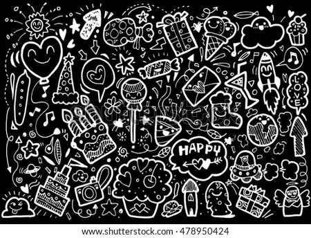 vector illustration of happy