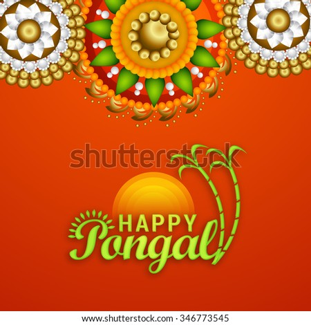 Vector illustration of happy pongal greeting card ez canvas vector illustration of happy pongal greeting card m4hsunfo