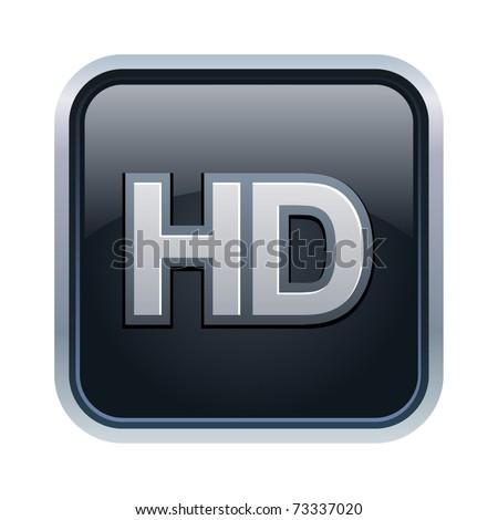 Vector illustration of HD icon - stock vector