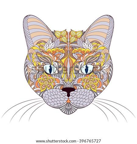 vector illustration of head of
