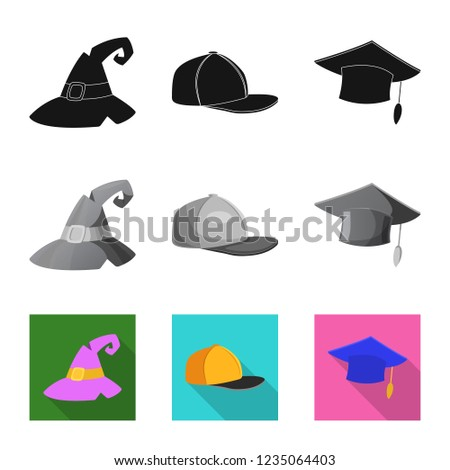 vector illustration of headgear