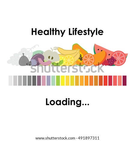 vector illustration of healthy