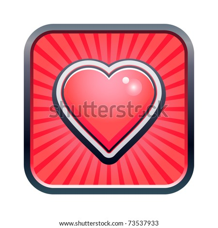 Vector illustration of heart icon