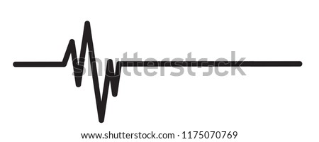 Vector illustration of heart pulse on a white background.