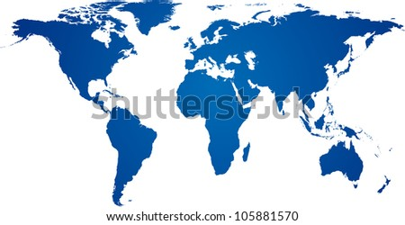 Vector illustration of high-detailded world map.