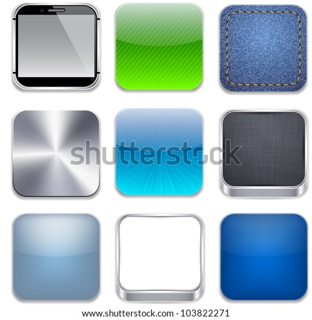 Vector illustration of high-detailed apps icon set.