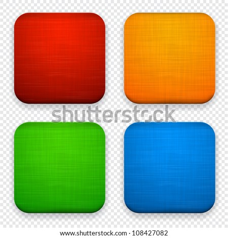 Vector illustration of high-detailed linen apps icon set.