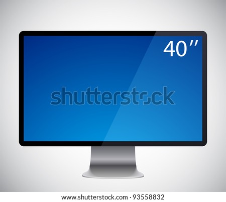 Vector illustration of high-detailed modern display.