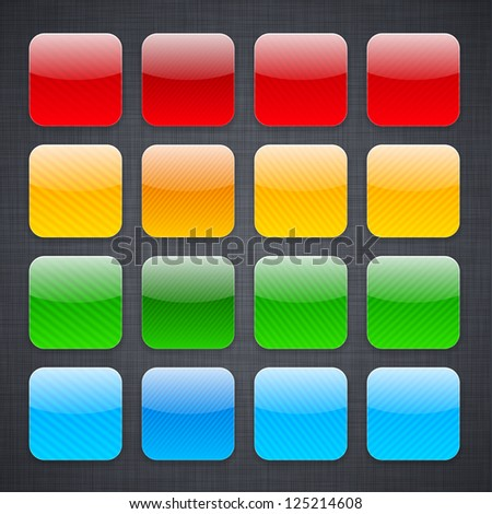 Vector illustration of high-detailed striped apps icon templates. Eps10.