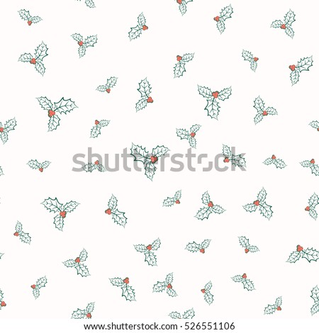 vector illustration of holly