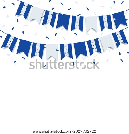 Vector Illustration of  Honduras Independence Day. Garland with the flag of Honduras on a white background.