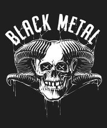 Vector illustration of Horned Skull