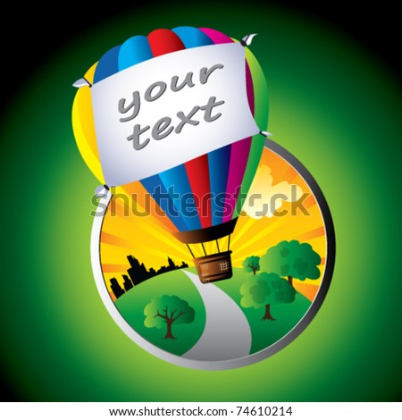 vector illustration of hot air