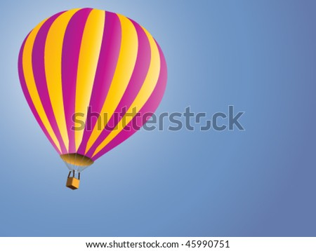 vector illustration of hot air baloon