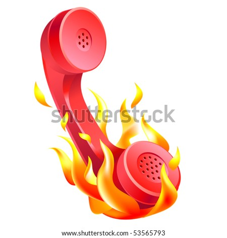 vector illustration of hot line icon