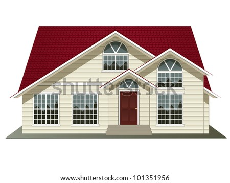 vector illustration of house isolated on white background - stock vector