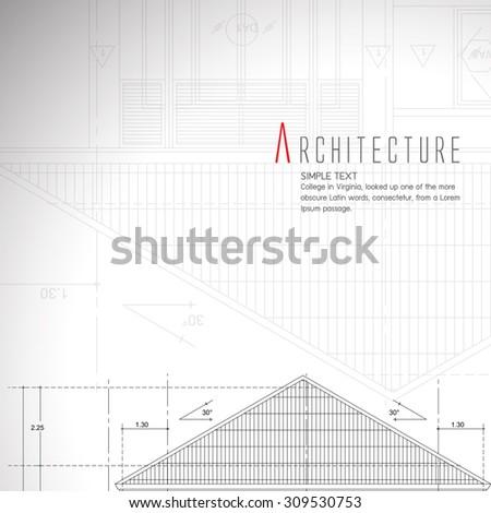 Vector illustration of house on white background.