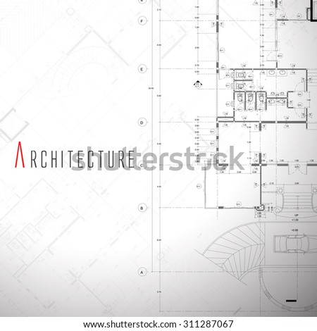 Vector illustration of house on white background.