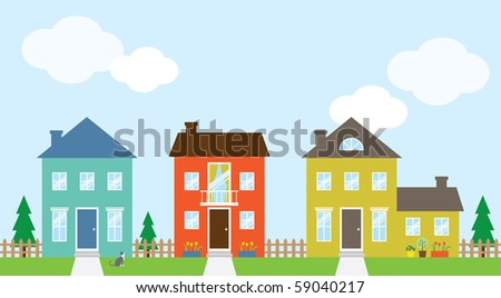 Vector illustration of houses.