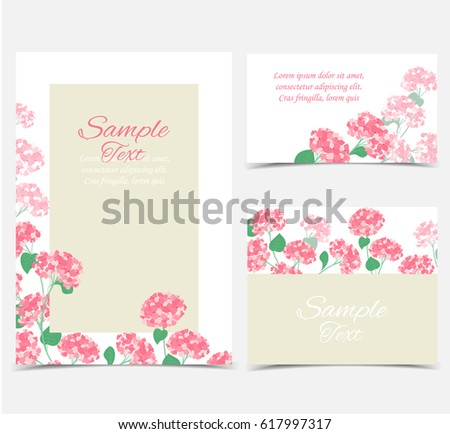 Vector illustration of hydrangea flower Background with blue flowers #617997317